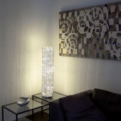 Lampada a colonna 60 lampadine bianco caldo H 100 cm