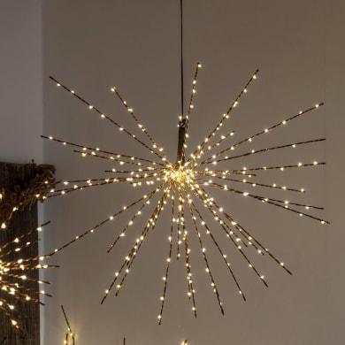 Sfera Twig Ball 320 lampadine bianco caldo H 60 cm