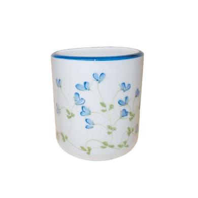 Bicchiere porta spazzolini Decoro 85/b in ceramica blu
