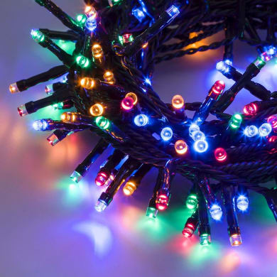Catena luminosa 300 lampadine LED multicolore 2 m