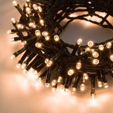 Catena luminosa 300 lampadine LED bianco caldo 2 m
