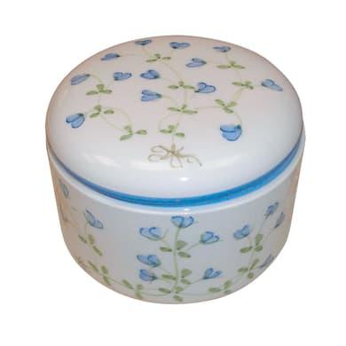 Porta cotone Decoro 85/b in ceramica azzurro
