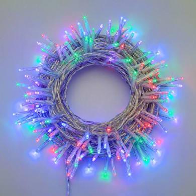 Catena luminosa 180 lampadine LED multicolore 4 m