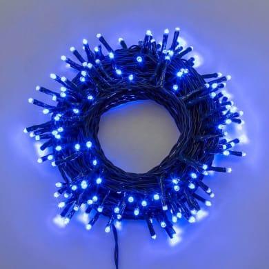 Catena luminosa 180 lampadine LED blu 4 m