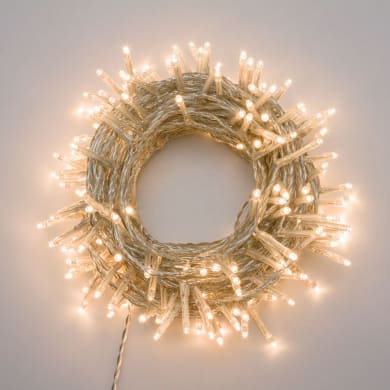 Catena luminosa 360 lampadine LED bianco caldo 4 m