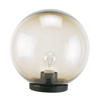 Lampada da giardino Globo in plastica, fumè, E27 MAX100W IP43
