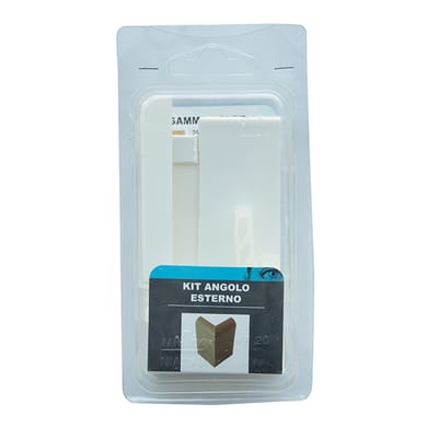 Angolare esterno in kit kit angolo esterno battiscopa 7011 bianco 5 x 11 cm Sp 20 mm