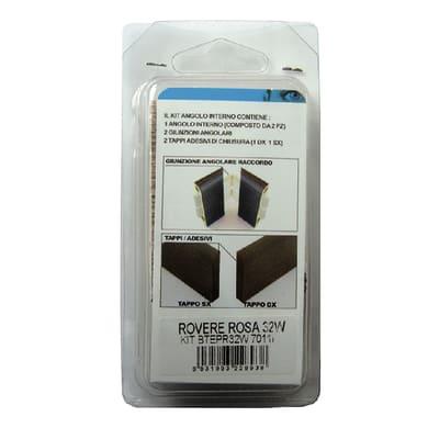 Angolare interno in kit kit angolo interno battiscopa 7011 rovere rosato 5 x 11 cm Sp 20 mm