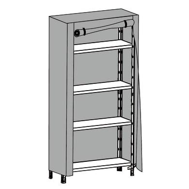Custodia   colore grigio / argento L 96 X P 50 X H 160 cm