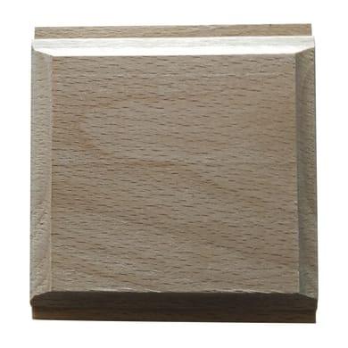 Fregio piramide in faggio grezzo 70 x 70 x 10 mm