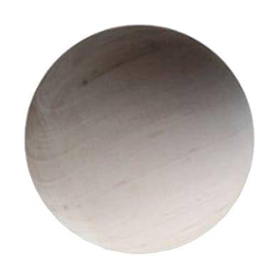 Sagoma decorativa tondo in faggio grezzo Ø 70 mm