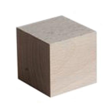 Sagoma decorativa cubo grezzo 50 x 50 x