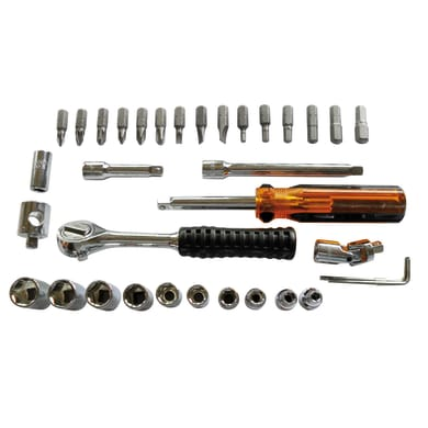 Set di chiavi e bussole , 30 pezzi