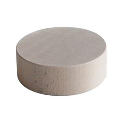 Sagoma decorativa tondo in faggio grezzo 30 mm Ø 90 mm