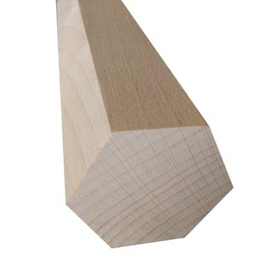 Sagoma decorativa esagonale grezzo 30 x 300 x 30 mm