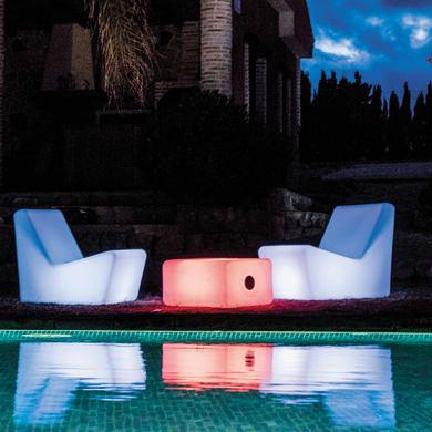 Tavolino da giardino rettangolare Tarida NEWGARDEN con piano in polipropilene L 45 x P 59 cm