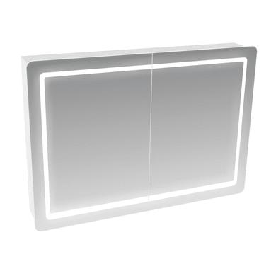 Specchio contenitore con luce 7202p L 100 x P 16 x H 70 cm bianco