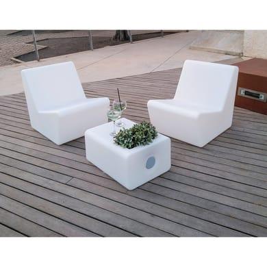 Sedia con braccioli in polipropilene Tarida NEWGARDEN colore bianco