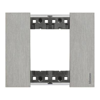 Placca Living Now BTICINO 2 moduli acciaio