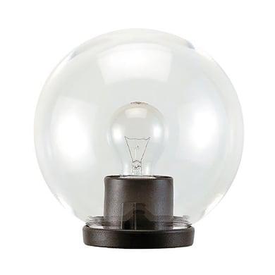 Lampada da giardino Globo in plastica, trasparente, E27 MAX100W IP43