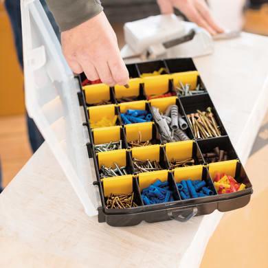 Contenitore per viti con cassetti STANLEY Organizer porta minuteria in polipropilene nero 21 scomparti