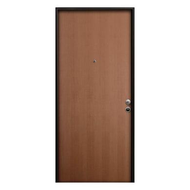 Porta blindata Palace noce L 80 x H 210 cm sinistra