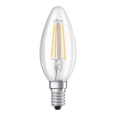 Lampadina LED filamento, E14, Oliva, Trasparente, Luce naturale, 4W=470LM (equiv 60 W), 300° , OSRAM