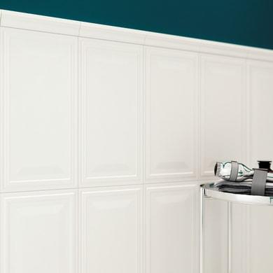 Piastrella per rivestimenti New Classic 30 x 56 cm sp. 10 mm bianco