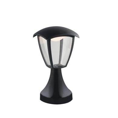 Lampioncino Lady H39cm LED integrato in alluminio nero 12W 800LM IP44