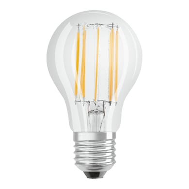 Lampadina LED filamento, E27, Goccia, Trasparente, Luce naturale, 11W=1521LM (equiv 100 W), 300° , OSRAM