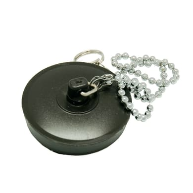 Tappo con catenella in gomma Ø 40 mm