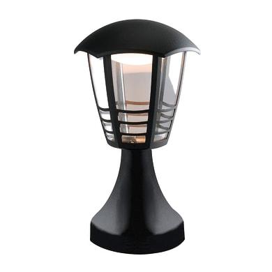Lampioncino Cloe H29.7cm LED integrato in alluminio nero 12W 800LM IP44