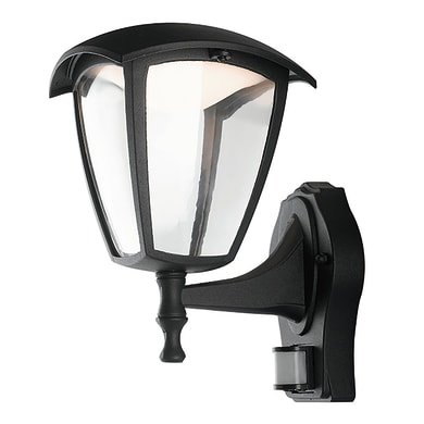 Applique Lady LED integrato con sensore di movimento, in alluminio, nero, 12W 800LM IP44