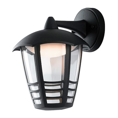 Applique Cloe LED integrato in alluminio, nero, 12W 800LM IP44