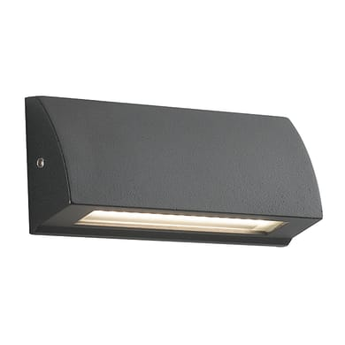 Applique Shelby LED integrato in alluminio, nero, 4W 120LM IP54