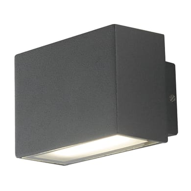 Applique Agera LED integrato in alluminio, nero, 6W 340LM IP54