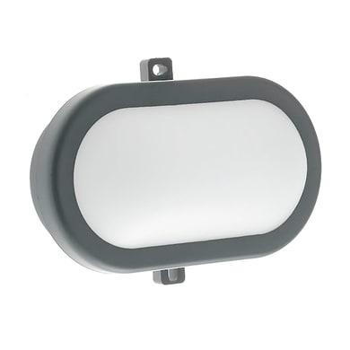 Plafoniera Extra LED integrato in policarbonato, nero, 10W 700LM IP54