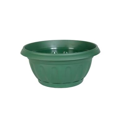 Ciotola Suprema in plastica colore verde H 14 cm, Ø 30 cm
