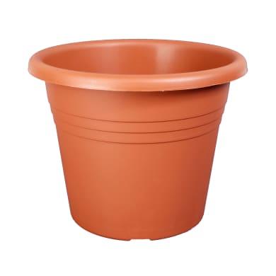 Vaso Isola in plastica colore cotto H 26 cm, Ø 35 cm