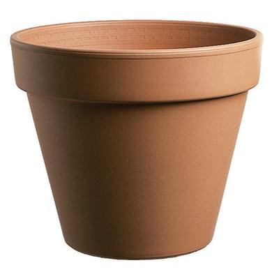 Vaso da coltura Pollicino CERMAX in terracotta colore cotto H 8 cm, Ø 9 cm