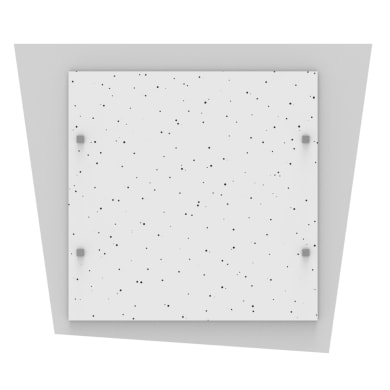 Plafoniera moderno Skinny bianco, 40x40, 1800 lumen LED integrato bianco, in ferro, 40x45 cm, LUMICOM