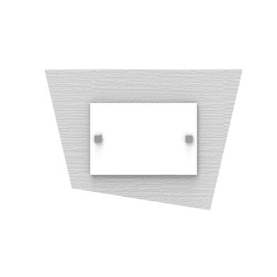 Applique moderno Skinny bianco, in vetro, 35x25 cm, LUMICOM