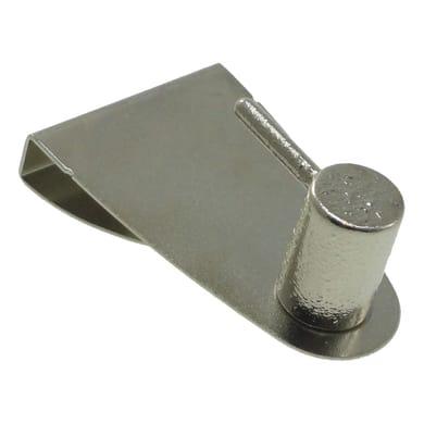 Supporto Ø25/28mm Elegance in ferro nichel satinato, 2 pezzi