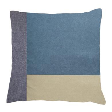 Cuscino Patchwork blu 50x50 cm