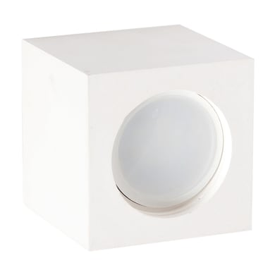 Faretto fisso da incasso quadrato Capri  in Gesso bianco, 7xGU10 MAX40W IP20 INSPIRE