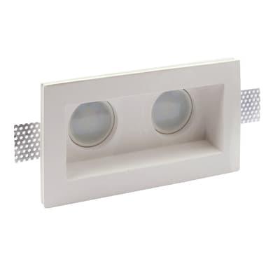 Set da 2 pezziFaretto fisso da incasso rettangolo Siena  in Gesso bianco, 21xGU10 2xMAX40W IP20 INSPIRE