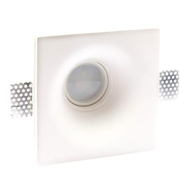 Faretto fisso da incasso quadrato Mondello  in Gesso bianco, 13.5xGU10 MAX40W IP20 INSPIRE