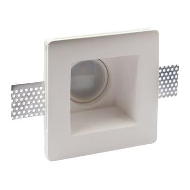 Faretto fisso da incasso quadrato Cortina in gesso, bianco, 12xMAX40W IP20 INSPIRE 1 pezzi
