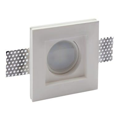 Faretto fisso da incasso quadrato Alghero  in Gesso bianco, 9.5xGU10 MAX40W IP20 INSPIRE