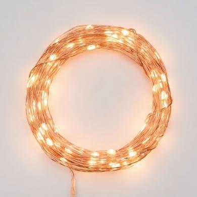 Catena luminosa 300 lampadine LED bianco caldo 2250 cm